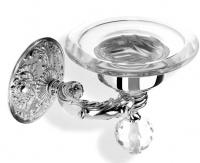 Мыльница StilHaus Noto Light NT 09 V CR настенная хром / стекло прозрачное / стекло мурано