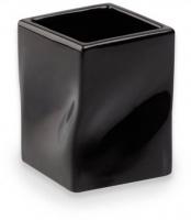 Стакан StilHaus Prisma 793(NE) настольной хром / керамика черная
