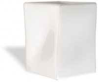 Стакан StilHaus Prisma 793 настольной хром / керамика белая
