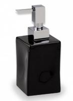 Дозатор для жидкого мыла StilHaus Prisma 795(08-NE) NE настольный хром / керамика черная