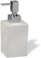 Дозатор для жидкого мыла StilHaus Prisma 795(08-BI) настольный хром / керамика белая