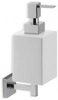Дозатор для жидкого мыла StilHaus Urania U 30 настенный хром / керамика белая