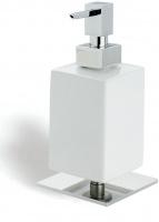 Дозатор для жидкого мыла StilHaus Urania 618(08-BI) настольный хром / керамика белая