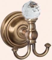 Крючок Tiffany TW Crystal TWCR016 BR SW двойной бронза/Swarovski