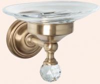 Мыльница Tiffany TW Crystal TWCR106 CR SW настенная хром / керамика/Swarovski