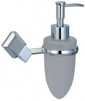 Дозатор для мыла Wasserkraft Aller K-1100 K-1199 подвесной хром/стекло матовое