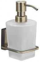 Дозатор для мыла Wasserkraft Exter K-5200 K-5299 подвесной бронза светлая/стекло матовое