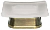 Мыльница Wasserkraft Exter K-5500 K-5529 настольная бронза светлая/стекло матовое