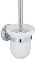 Ершик для туалета Wasserkraft Rhein K-6200 K-6227C подвесной хром/керамика белая