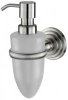 Дозатор для мыла Wasserkraft Ammer K-7000 K-7099 подвесной хром матовый/стекло матовое