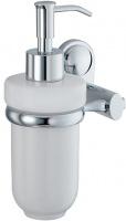 Дозатор для мыла Wasserkraft Main K-9200 K-9299C подвесной хром/керамика белая