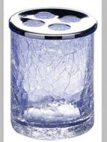 Стакан для зубных щеток Windisch Addition Craquele 83125CR настольный стекло `кракле` / хром