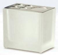 Стакан Windisch Box Lineal Crystal Matt 83318MCR настольный хром /стекло матовое белое