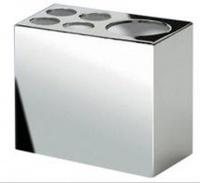 Стакан Windisch Box Metal Lineal 83418CR настольный 6 х h 9 см хром