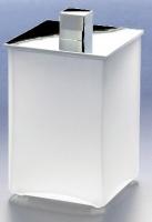 Контейнер Windisch Box Matt 88121MCR настольный хром /стекло матовое белое