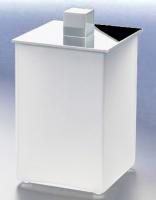 Контейнер Windisch Box Matt 88122MCR настольный хром /стекло матовое белое