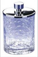 Контейнер средний Windisch Addition Craquele 88125CR настольный стекло `кракле` / хром