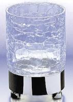 Стакан Windisch Addition Craquele 94118CR на подставке стекло `кракле` / хром