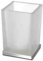 Стакан Windisch Box Lineal Crystal Matt 94125MCR настольный хром /стекло матовое белое