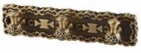 Вешалка Zorg Antic AZR 17 BR с тремя крючками бронза