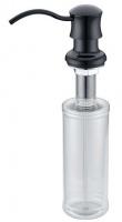 Дозатор жидкого мыла Zorg Inox ZR-21 Black встраиваемый черный