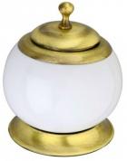 Подробнее о Контейнер для дисков Aksy Bagno Fantasia 6740 A настольный бронза / керамика белая