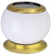 Подробнее о Стакан Aksy Bagno Fantasia 6750 A настольный бронза / керамика белая