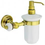 Подробнее о Дозатор для мыла Aksy Bagno Fantasia Antique 8414 A настенный бронза / керамика белая
