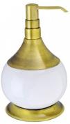 Подробнее о Дозатор для мыла Aksy Bagno Fantasia Antique 8630 A настольный бронза / керамика белая