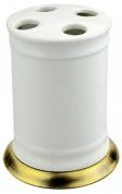 Подробнее о Стакан Aksy Bagno Fantasia Antique 8650 A настольный бронза / керамика белая