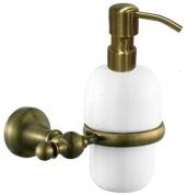Подробнее о Дозатор для мыла Aksy Bagno Queen A8514 настенный бронза / керамика белая