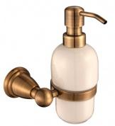 Подробнее о Дозатор для мыла Aksy Bagno Mona M7215 настенный бронза / керамика белая