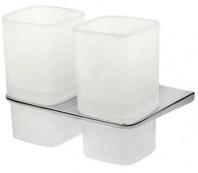 Подробнее о Стакан AM.PM Inspire A50343400 подвесной двойной хром / стекло матовое
