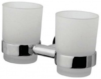 Подробнее о Стакан AM.PM Sense A75343400 подвесной двойной хром / стекло матовое