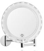 Подробнее о Зеркало косметическое Andrea House  BA62077 настенное (5Х) диам. 19 см с LED подсветкой хром