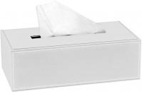 Подробнее о Контейнер Andrea House BA7286 для салфеток 26,8 х 14,8 см цвет белый (экокожа
