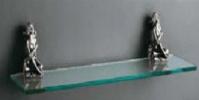 Подробнее о Полка стеклянная Art&Max Athena AM-0613-T серебро