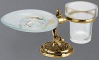 Подробнее о Стакан и мыльница Art&Max Barocco Crystal AM-1789-Cr-C настольные хром / стекло матовое / Swarovski