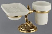 Подробнее о Стакан и мыльница Art&Max Barocco AM-1789-Cr настольные хром / керамика белая