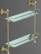 Подробнее о Полка стеклянная (двойная Art&Max Antic Crystal AM-2682BSJ-Cr хром