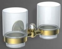 Подробнее о Два стакана Art&Max Antic Crystal AM-2688SJ-Cr настенный хром
