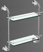 Подробнее о Полка стеклянная Art&Max Bianchi AM-3684AW двойная стекло прозрачное / хром