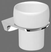 Подробнее о Стакан Art&Max Saffo AM-8658 настенный хром / стекло матовое
