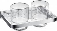 Подробнее о Стакан Art&Max Maxima aрт. AM-F-8920A двойной хром / стекло прозрачное