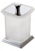 Подробнее о Стакан Art&Max Zoe aрт. AM-G-6831DX настольный с крышкой хром / стекло матовое