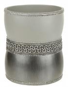 Подробнее о Корзина Avanti Braided Medallion Silver 11166F-SLV для мусора цвет серый