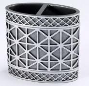 Подробнее о Стакан Avanti Eiffel Tower 13250B настольный двойной цвет серый