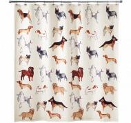 Подробнее о Шторка Avanti Dogs on Parade 13688H для ванны 183 х 183 см цвет кремовый с декором