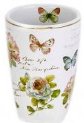 Подробнее о Стакан Avanti Butterfly Garden 13882A настольный цвет белый