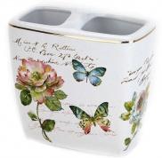 Подробнее о Стакан Avanti Butterfly Garden 13882B настольный двойной цвет цвет белый